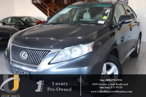 2010 Lexus RX 350 for sale at United Imports in San Jose CA