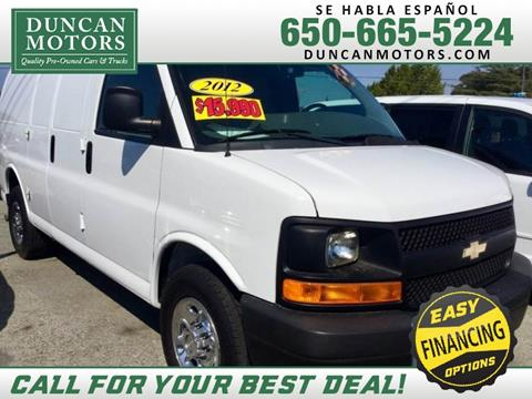 2012 Chevrolet Express Cargo for sale in San Carlos CA