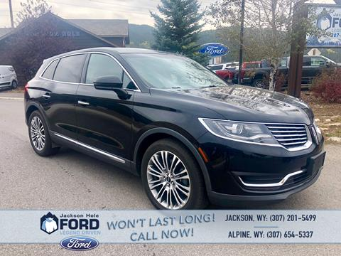 2016 Lincoln MKX for sale in Alpine, WY