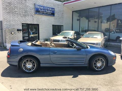 2002 Mitsubishi Eclipse Spyder for sale in Virginia Beach, VA