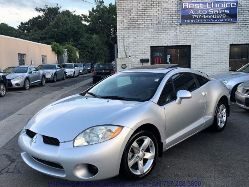 2008 Mitsubishi Eclipse For Sale At Best Choice Auto Sales In Virginia  Beach VA