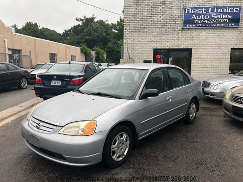 2002 Honda Civic For Sale At Best Choice Auto Sales In Virginia Beach VA