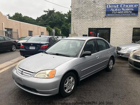 2002 Honda Civic For Sale In Virginia Beach, VA