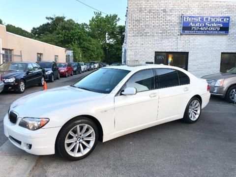Bmw 750li For Sale >> Bmw 7 Series For Sale In Virginia Beach Va Best Choice Auto Sales
