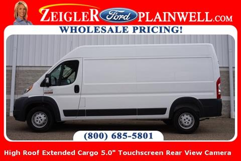 2018 RAM ProMaster Cargo 3500 159 WB for sale at Zeigler Ford of Lowell in Lowell MI