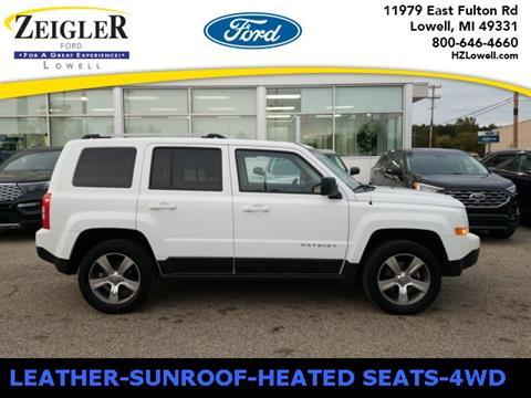 2017 Jeep Patriot High Altitude for sale at Zeigler Ford of Lowell in Lowell MI