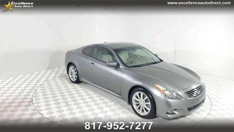 2011 Infiniti G37 Coupe for sale at Excellence Auto Direct in Euless TX
