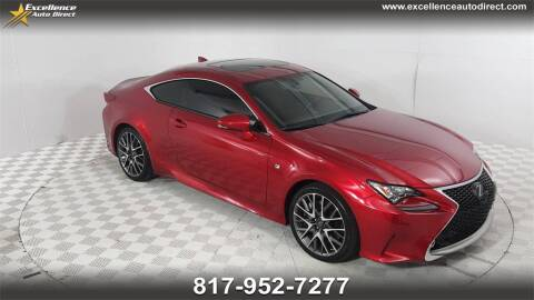 2017 Lexus RC 350 for sale at Excellence Auto Direct in Euless TX