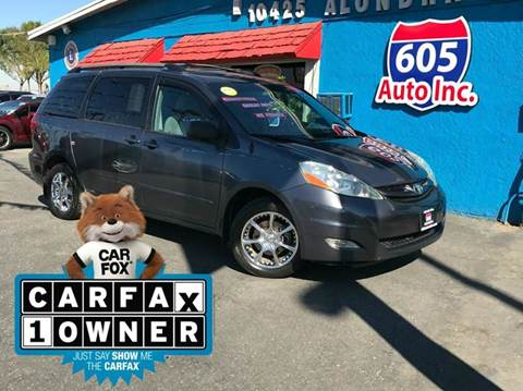 2006 Toyota Sienna for sale at 605 Auto  Inc. in Bellflower CA