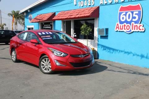 2015 Hyundai Elantra for sale at 605 Auto  Inc. in Bellflower CA