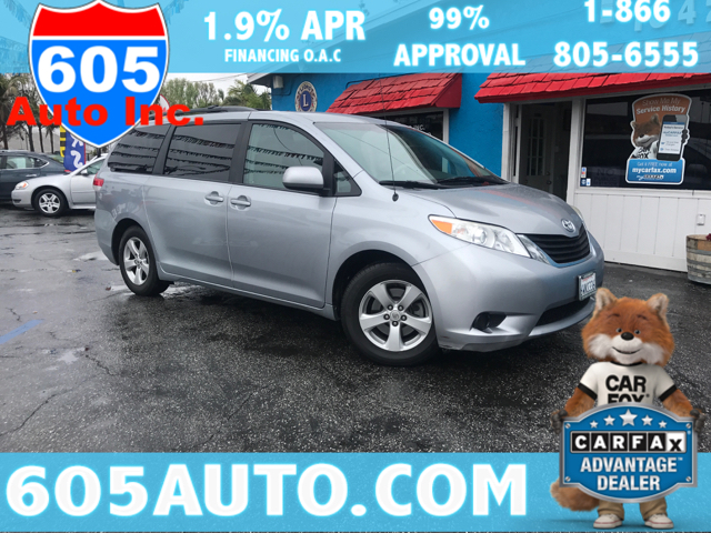 2012 Toyota Sienna for sale at 605 Auto  Inc. in Bellflower CA