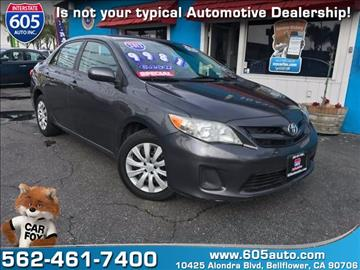 2012 Toyota Corolla for sale at 605 Auto  Inc. in Bellflower CA
