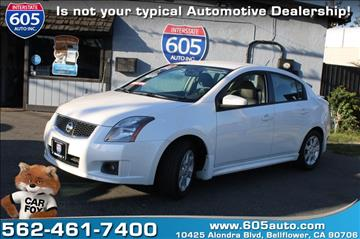 2010 Nissan Sentra for sale at 605 Auto  Inc. in Bellflower CA