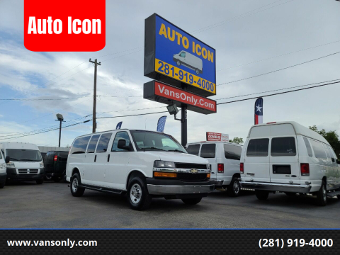 2015 Chevrolet Express Passenger for sale at Auto Icon in Houston TX