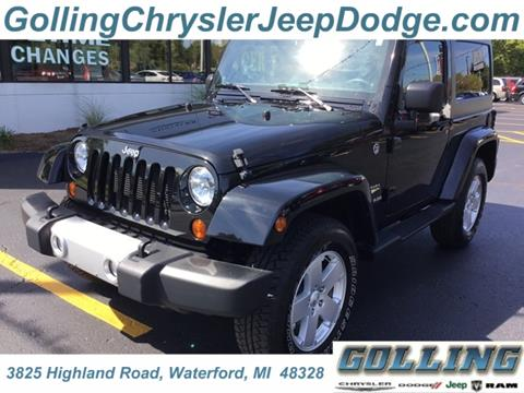 2012 Jeep Wrangler for sale in Waterford, MI