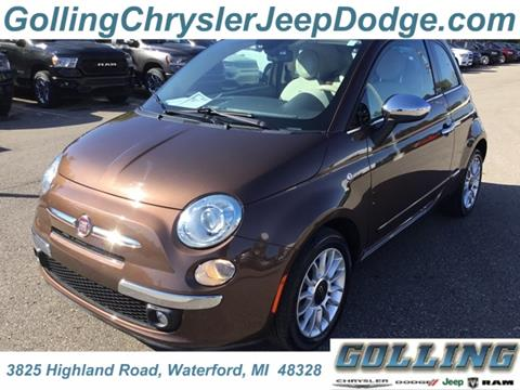 2012 FIAT 500c for sale in Waterford, MI