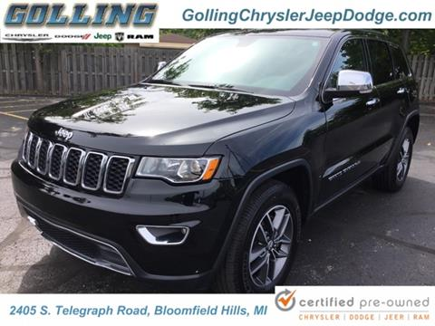 2017 Jeep Grand Cherokee for sale in Waterford, MI