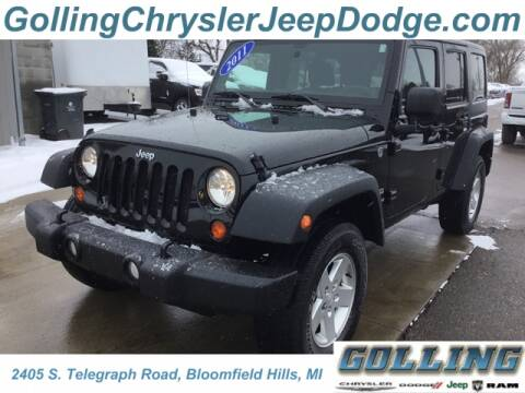 2011 Jeep Wrangler Unlimited for sale at Golling Auto Group in Waterford MI