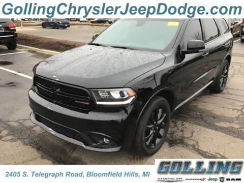 2017 Dodge Durango GT for sale at Golling Auto Group in Waterford MI