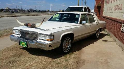 1991 Cadillac Brougham for sale at Gloe Auto Sales in Lubbock TX