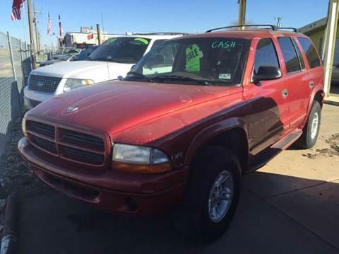 1999 Dodge Durango for sale at Gloe Auto Sales in Lubbock TX