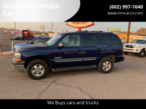 2003 Chevrolet Tahoe for sale at North Mountain Car Co in Phoenix AZ