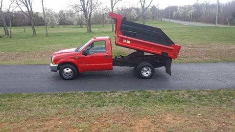 2001 Ford F350 XL Dump for sale at U-Win Used Cars in New Oxford PA