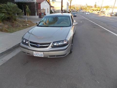 2002 Chevrolet Impala for sale at ALSA Auto Sales in El Cajon CA