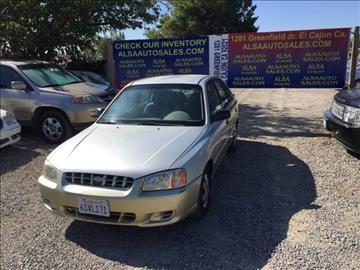2001 Hyundai Accent for sale at ALSA Auto Sales in El Cajon CA