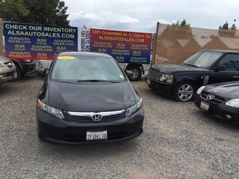 2012 Honda Civic for sale in El Cajon, CA