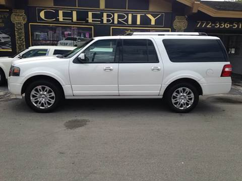 2011 Ford Expedition EL for sale at Celebrity Auto Sales in Port Saint Lucie FL
