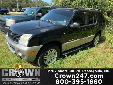 2002 Mercury Mountaineer for sale at CROWN  DODGE CHRYSLER JEEP RAM FIAT in Pascagoula MS