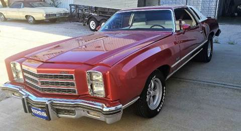 1976 Chevrolet Monte Carlo for sale at KC Vintage Cars in Kansas City MO