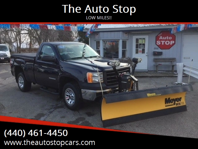 2012 gmc sierra 1500 4x4 work truck 2dr regular cab 6 5 ft sb in painesville oh the auto stop. Black Bedroom Furniture Sets. Home Design Ideas