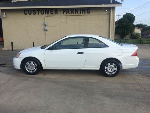 2001 Honda Civic for sale in Dallas, TX
