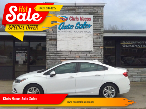 2018 Chevrolet Cruze for sale at Chris Nacos Auto Sales in Derry NH