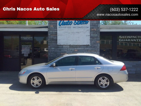 2007 Honda Accord for sale at Chris Nacos Auto Sales in Derry NH
