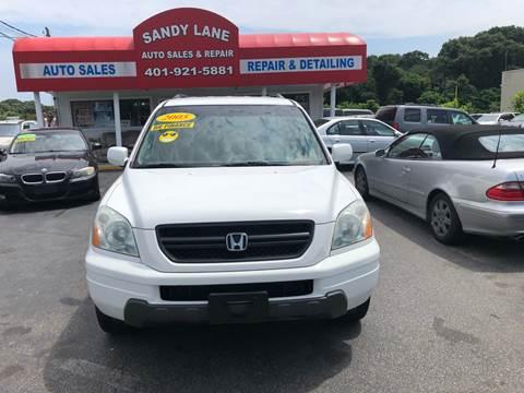 2004 Honda Pilot for sale at Sandy Lane Auto Sales and Repair in Warwick RI