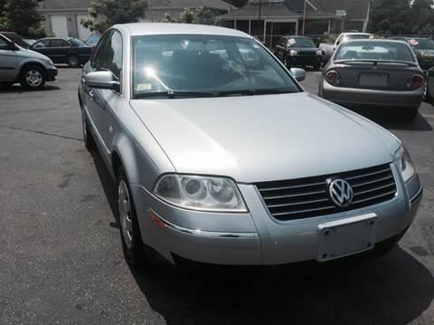 2003 Volkswagen Passat for sale at Sandy Lane Auto Sales and Repair in Warwick RI