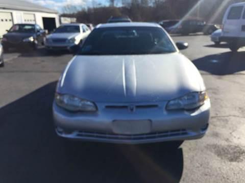 2003 Chevrolet Monte Carlo for sale at Sandy Lane Auto Sales and Repair in Warwick RI