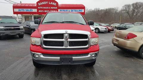 2003 Dodge Ram Pickup 1500 for sale at Sandy Lane Auto Sales and Repair in Warwick RI