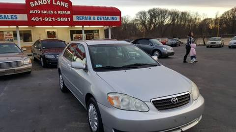 2007 Toyota Corolla for sale at Sandy Lane Auto Sales and Repair in Warwick RI