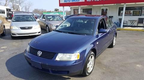 2000 Volkswagen Passat for sale at Sandy Lane Auto Sales and Repair in Warwick RI