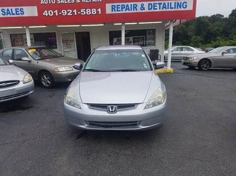 2003 Honda Accord for sale at Sandy Lane Auto Sales and Repair in Warwick RI