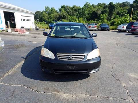 2004 Toyota Corolla for sale at Sandy Lane Auto Sales and Repair in Warwick RI