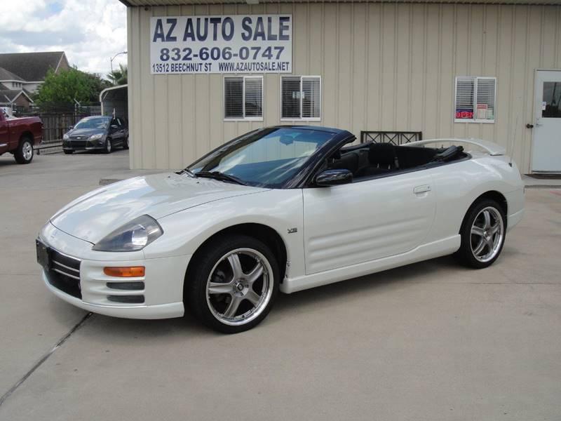 2001 Mitsubishi Eclipse Spyder For Sale At AZ Auto Sale In Houston TX