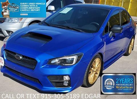 Used Subaru Wrx For Sale >> 2016 Subaru Wrx For Sale In El Paso Tx