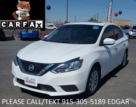 2018 Nissan Sentra for sale at Best Deal Auto Group, INC - Lot  A-6915 in El Paso TX