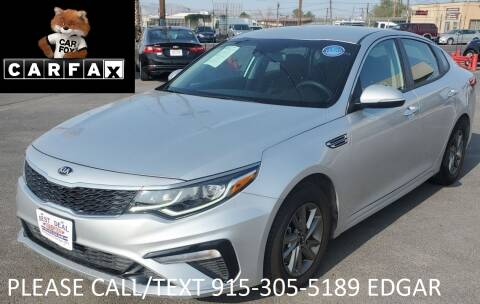 2019 Kia Optima for sale at Best Deal Auto Group, INC - Lot  A-6915 in El Paso TX