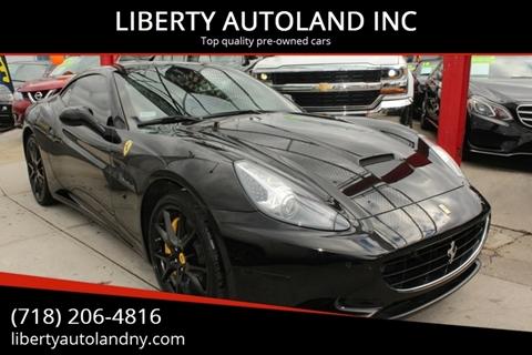2012 Ferrari California for sale at LIBERTY AUTOLAND INC in Jamaica NY